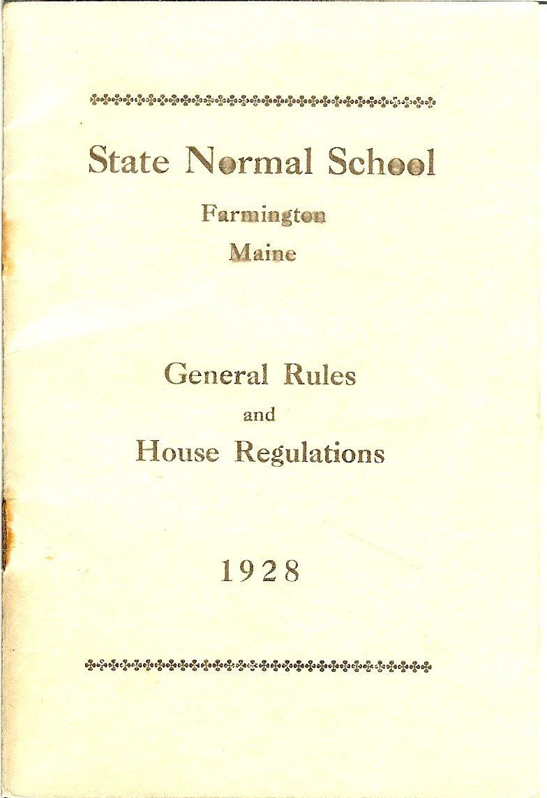 Farmington State Normal School rules pamphlet