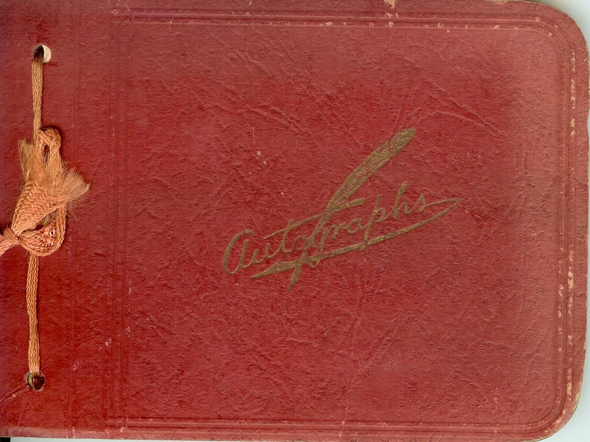 normal school graduation autograph book, 1930 also, record of summer workers & Positions at Asticou inn, 1930-1934