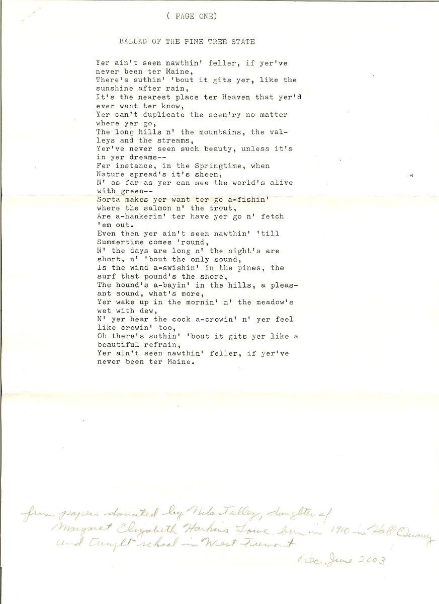 Poem by Daniel Somes Smith
