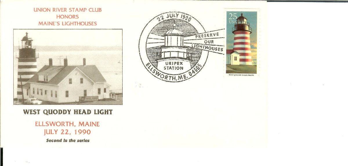 Maine Lighthouse First Day Covers