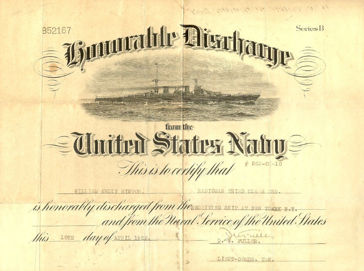 Honorable navy discharge