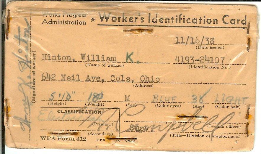 Worker's Identification Card