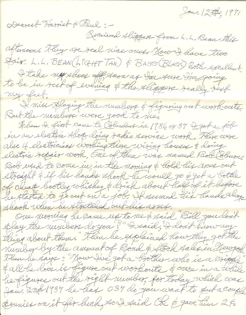 letter from William to Harriet and Paul