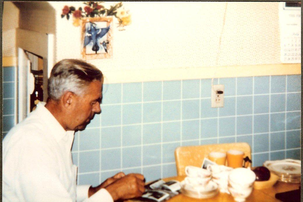 Albert Gott in his kitchen