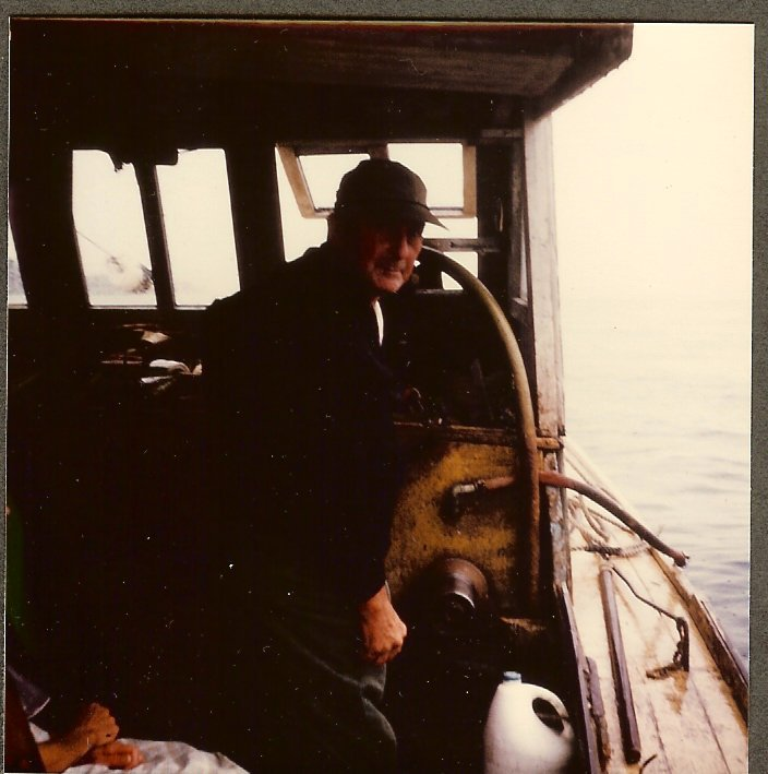 Charley Gott aboard his lobster boat