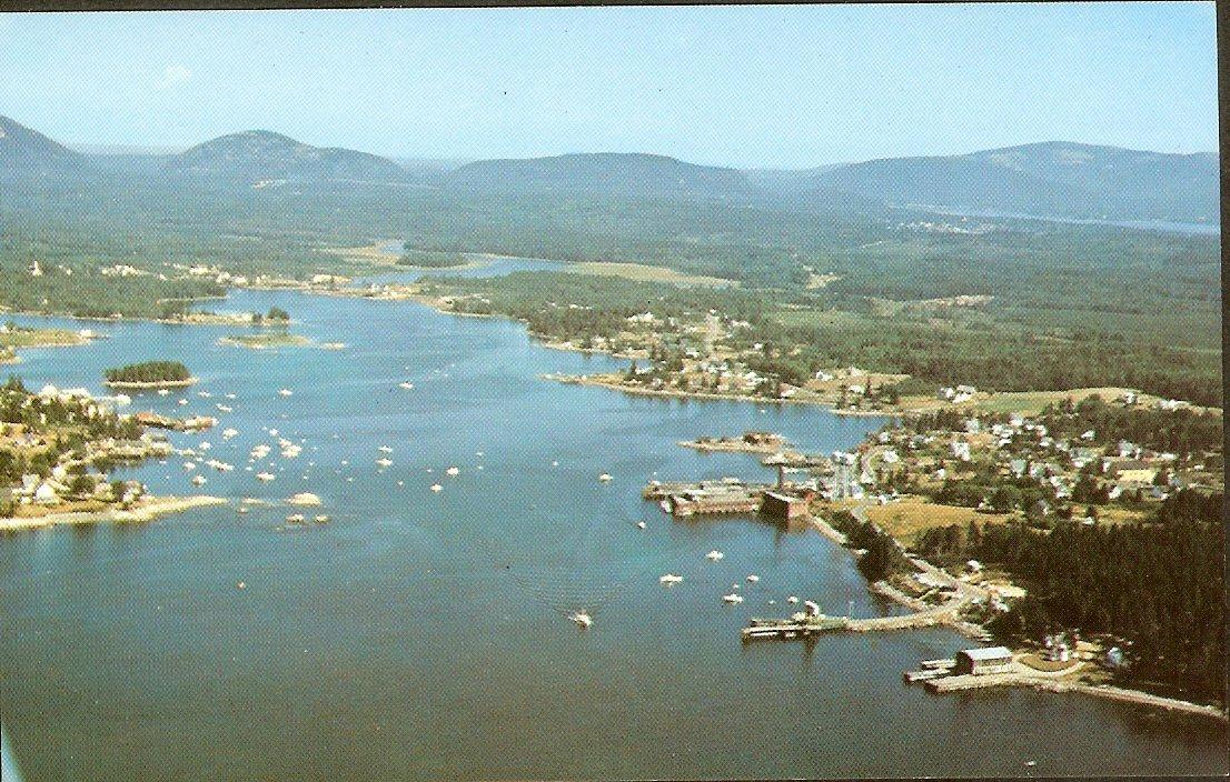 Bass Harbor Maine aerial photo