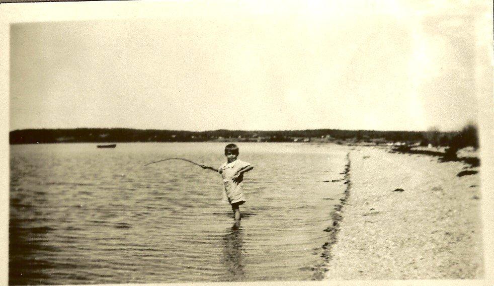 Bertram Butler Fishing at Salisbury Cove picnic