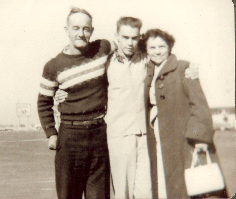 Leon, Bertram & Esther Butler at Salisbury Cove picnic