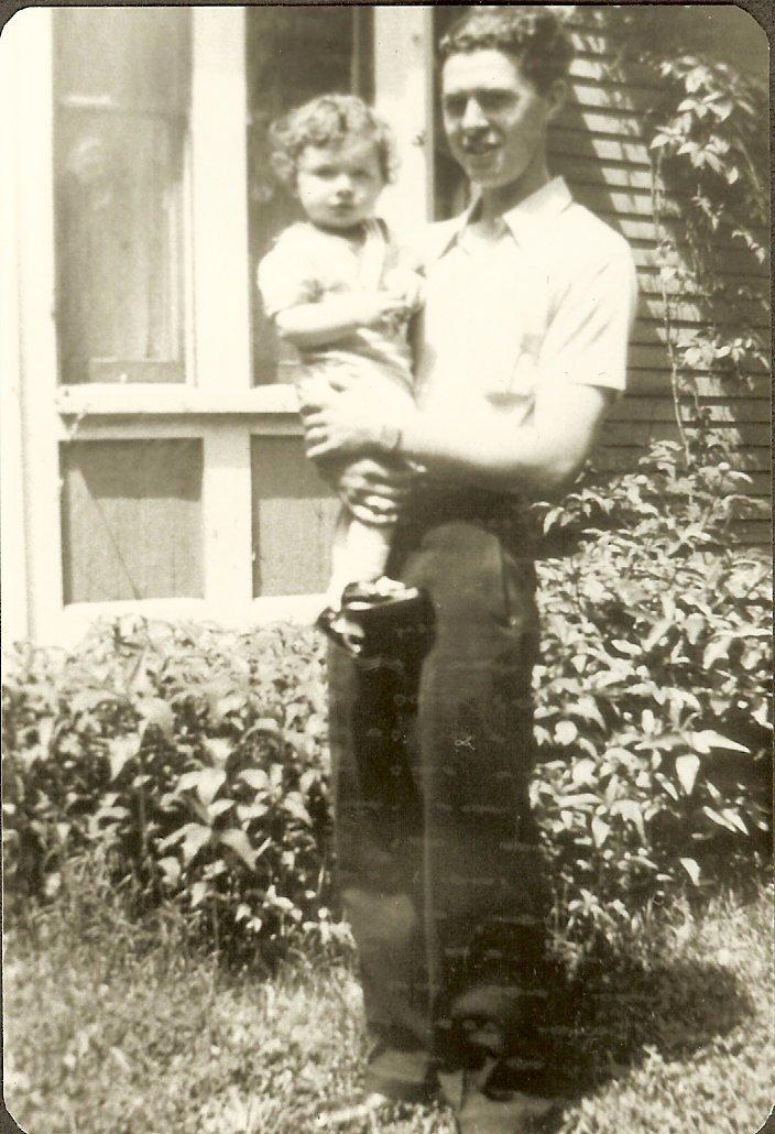 Albert Gott holding baby Norman