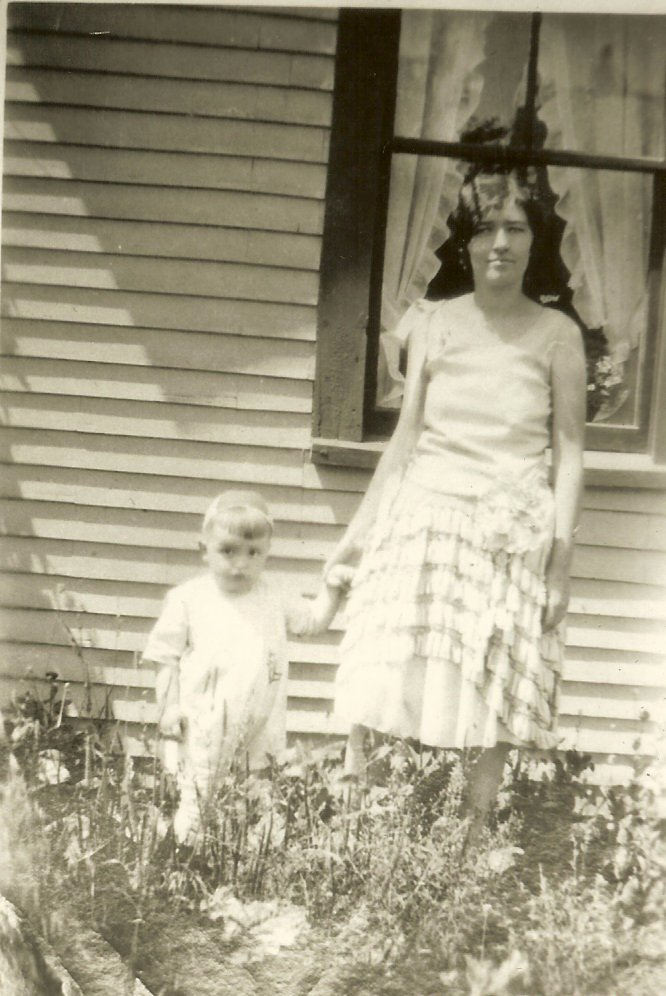 Clara Gott with young boy Wayne Stanley