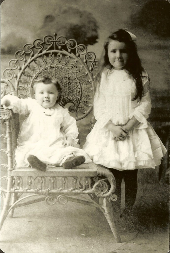 young Grace Gott with baby Clyde