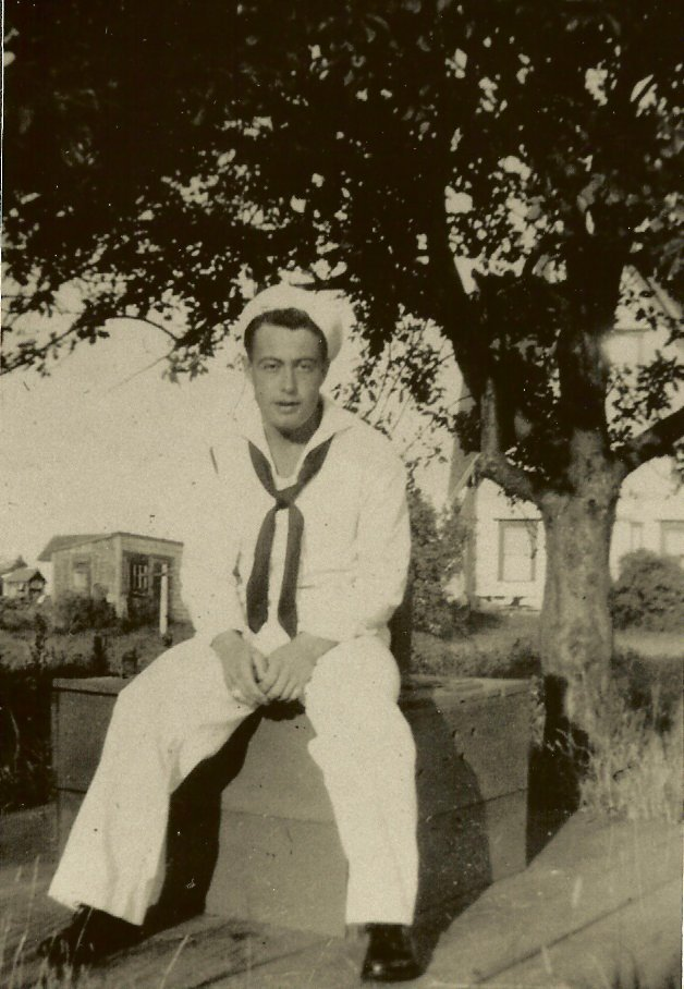 Raymond Carter in his navy whites