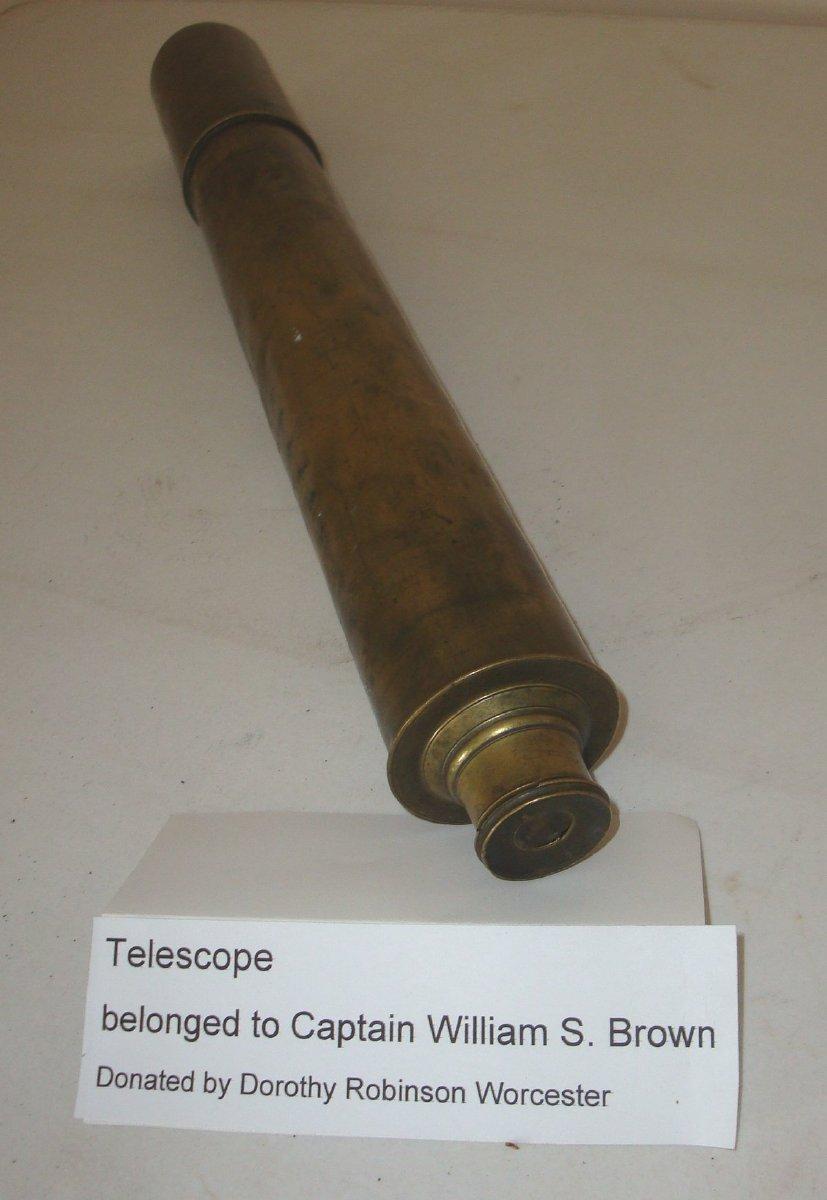 Brass telescoping spyglass