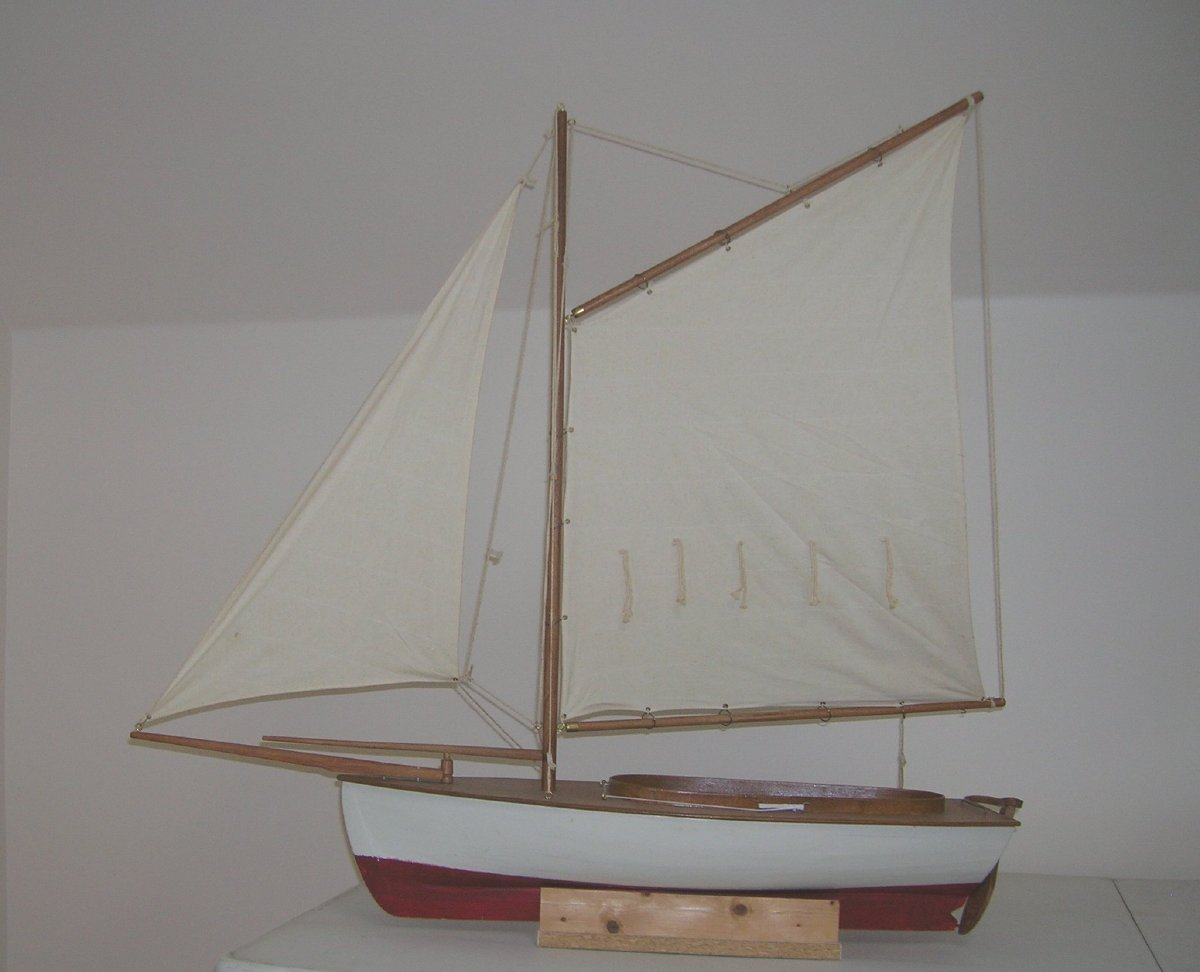 Wooden Friendship sloop model