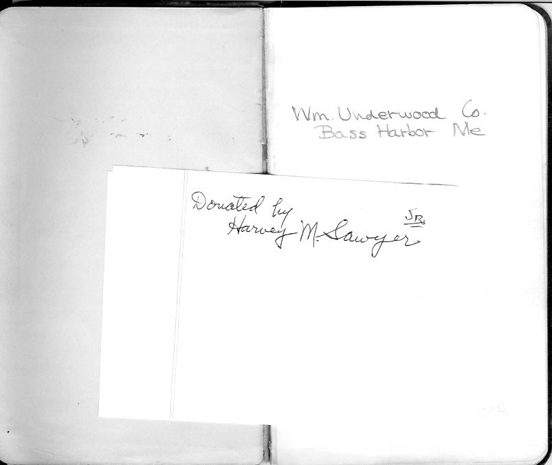 Underwood canning notebook