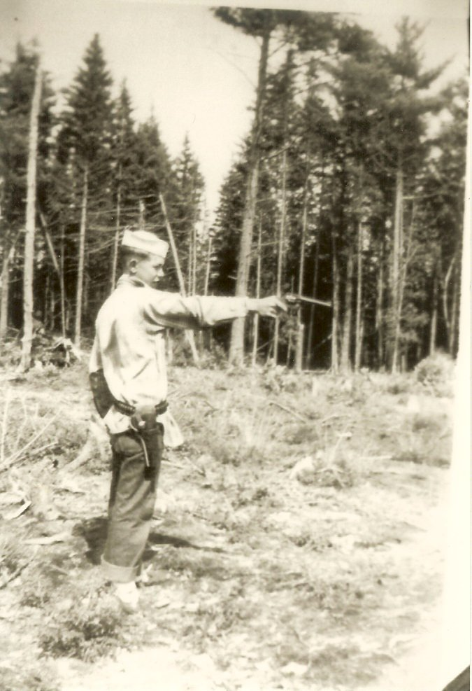 Vernon Lovejoy shooting pistol