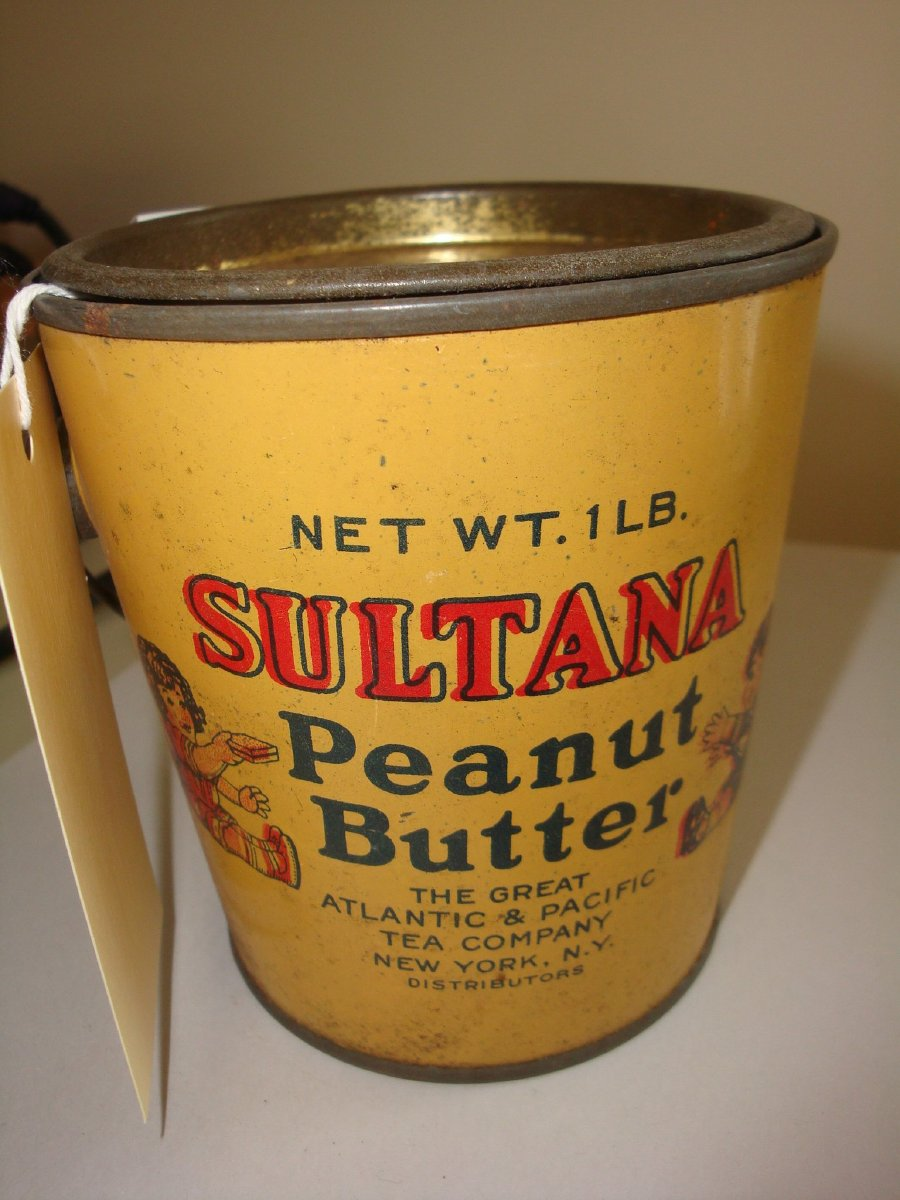 Sultana peanut butter tin