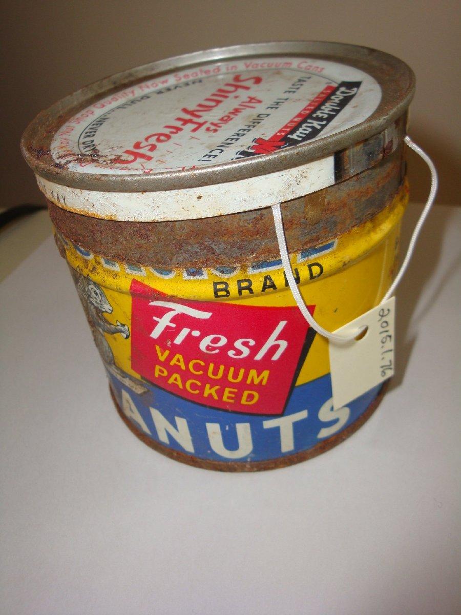 Double Kay peanuts tin
