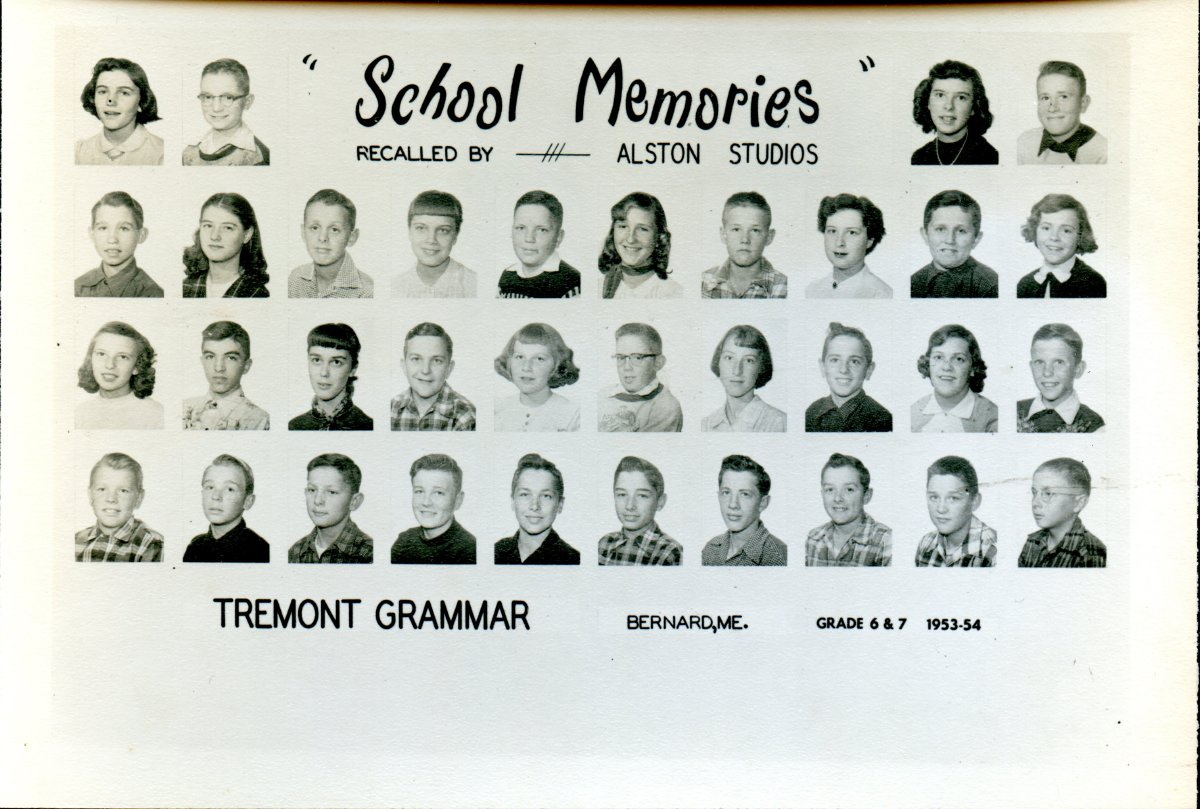 Tremont, Bernard, grammer school photo, 1954