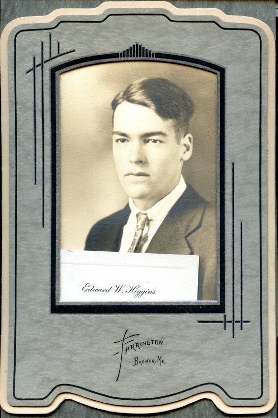Higgins, Edward W., Pemetic HS graduation photo
