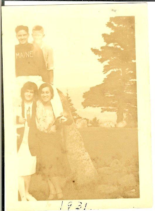 Elizabeth Harkins & summer friends, 1931