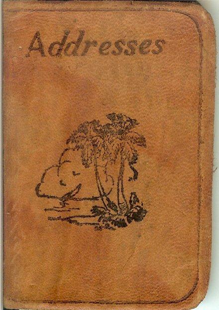 Elizabeth Harkins' address book, c. 1943