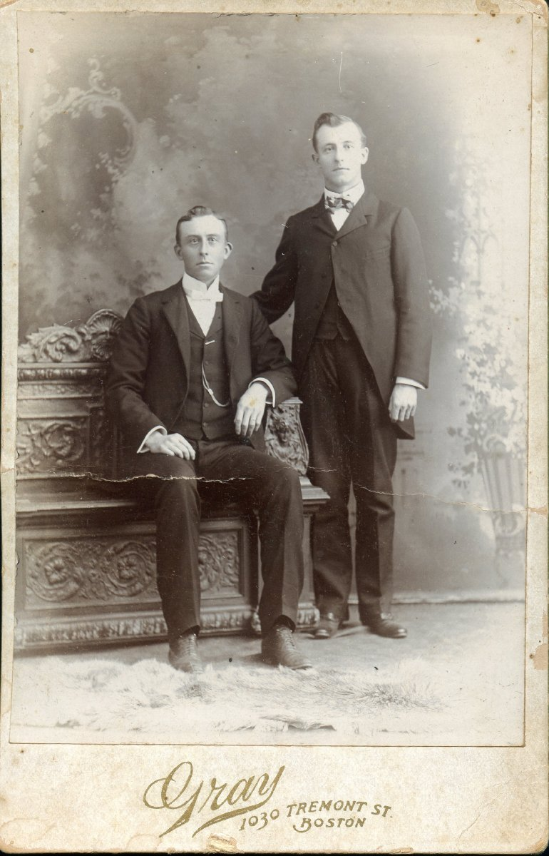 Moore, Albert D. and Philip, young men, formal photo