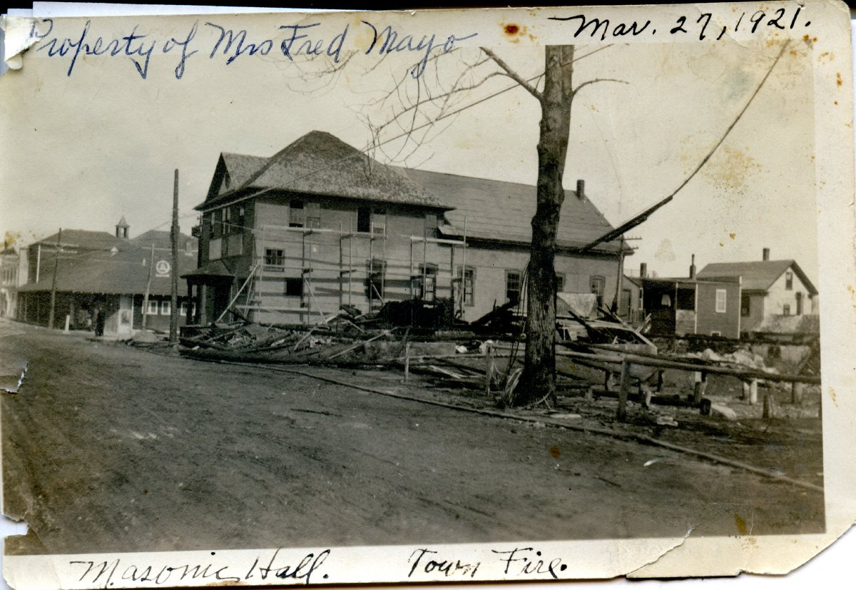 Southwest Harbor main st.fire, ruins