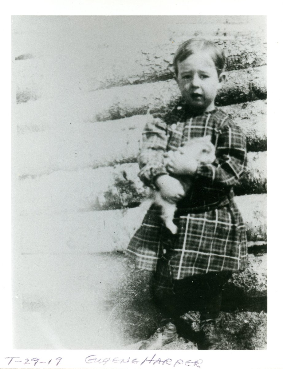 Harper, Eugene Archel, young boy holding cat