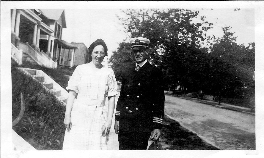 Loren W. Rumill in navy uniform
