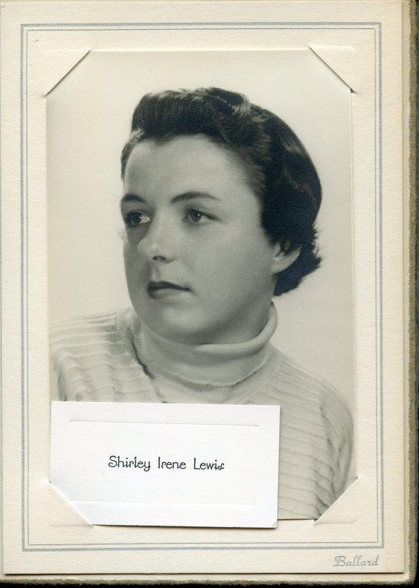 Lewis, Shirley, Pemetic senior photo, 1955