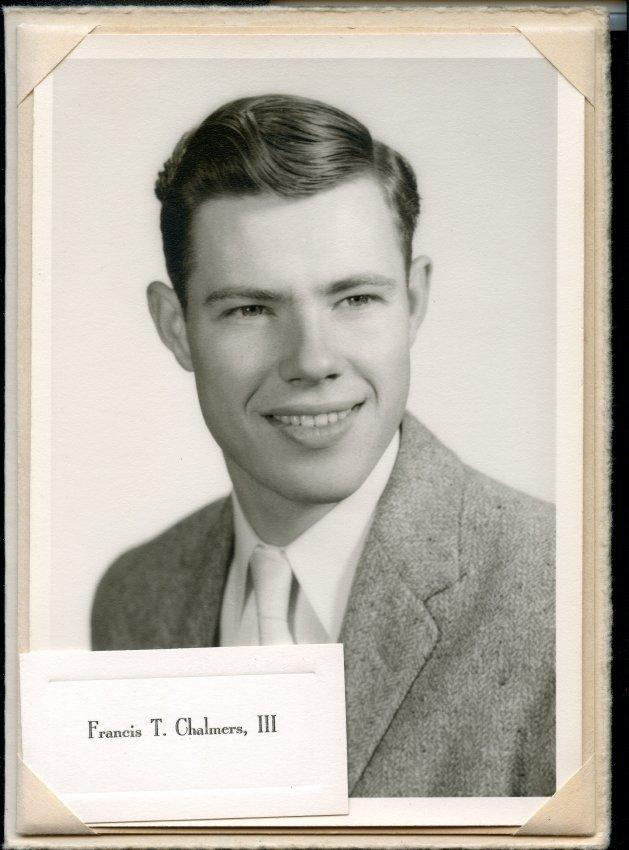 1961 Pemetic senior photo, Francis T. Chalmers, III