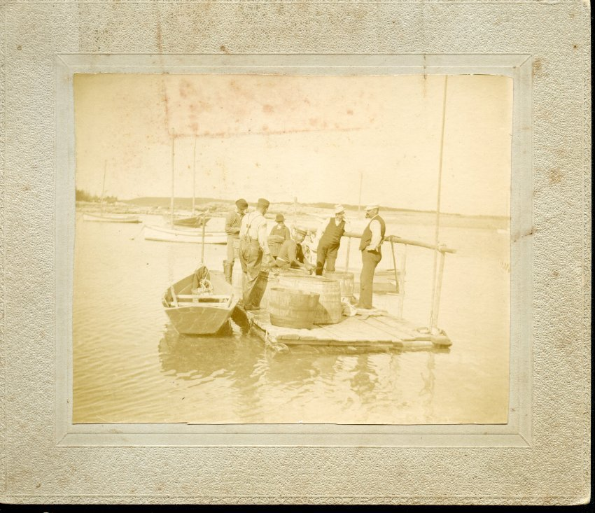 Fishermen at the pool, Gotts island, 1896.