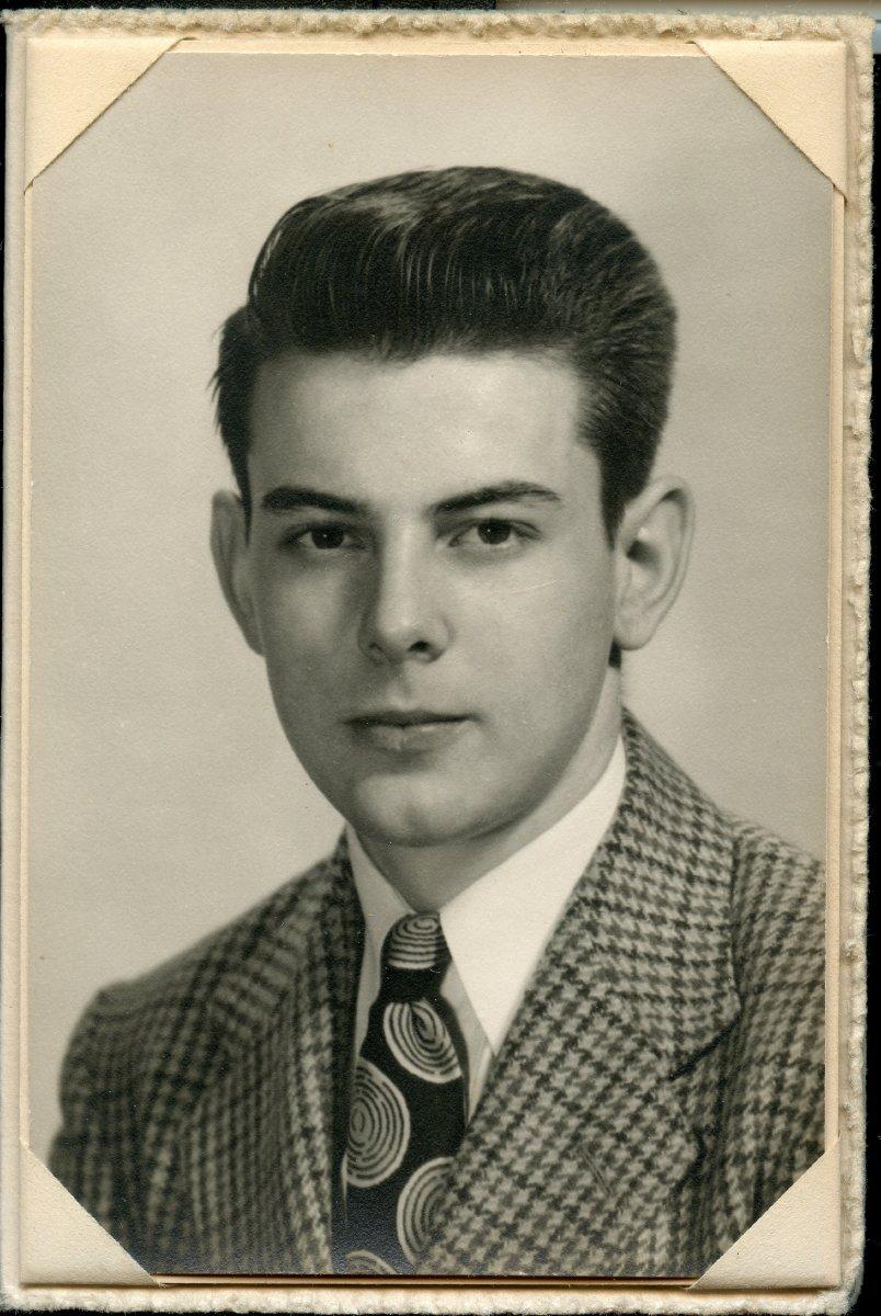 Trask, Graham Arthur Pemetic HS senior photo, 1949
