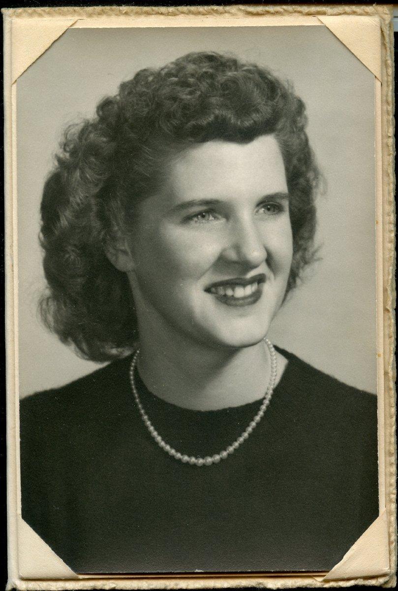 Boyington, Ramona Ann Pemetic HS senior photo, 1949