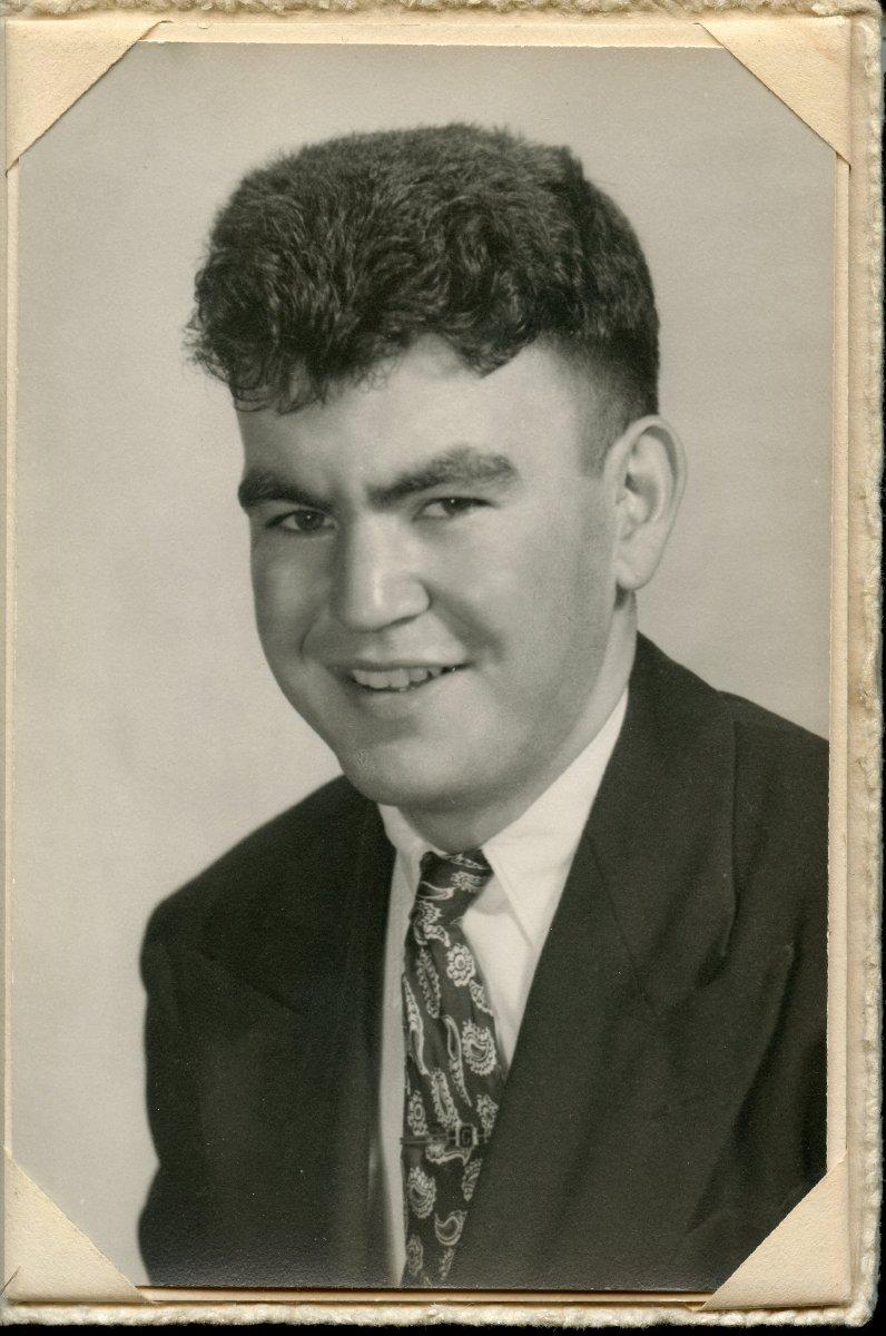 Lewis, Gilbert Pemetic HS senior photo, 1949.