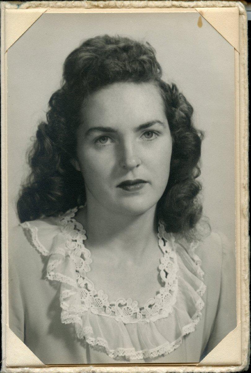 Higgins, Winona Pemetic HS senior photo, 1949