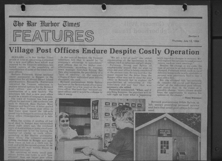Bar Harbor Times news article
