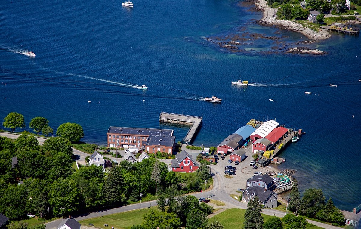 Aerial Photograph of Bass Harbor