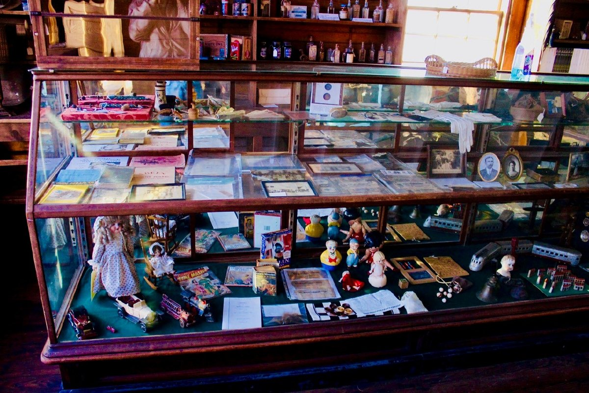 Tremont Museum Case with toys and other recreational items