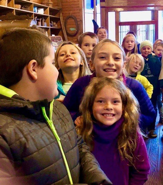 Tremont School Children in Country Store Museum