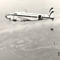 Image of Jumpers Exiting Seattle Sky Sports' Lockheed Lodestar -