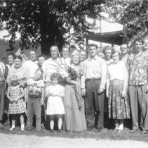 Image of Labor Day Queen Arline Nikko with Her Family -