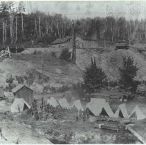 Image of Washington State Militia Troop B's Headquarters at Camp Gilman, 1891 -