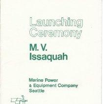 Image of Launching Ceremony - M.V. Issaquah -
