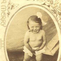 Image of Unidentified and Mostly Unclothed Female Toddler -