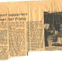 Image of Newspaper clipping about Skyport fundraiser -