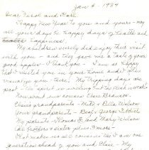 Image of Letter from Leah Wilson Righter to Ferol and Karl Jess -