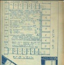 Image of Blueprint of Grand Ridge Mine No. 9 Vein -