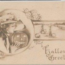 "Image of Postcard: ""Halloween Greetings"" -"